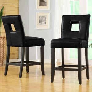 Counter Height Chairs, Set of Two